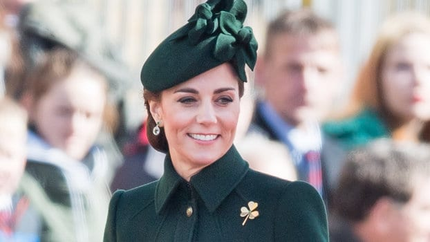 Kate Middleton in a Custom-made Alexander McQueen Coat Stepped Out for the St. Patrick's Day