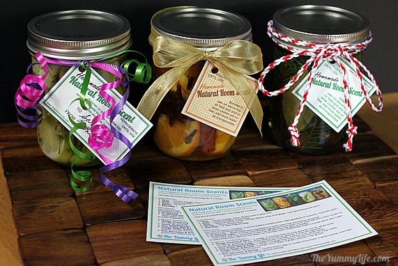 beautiful DIY gifts, scented gift jar