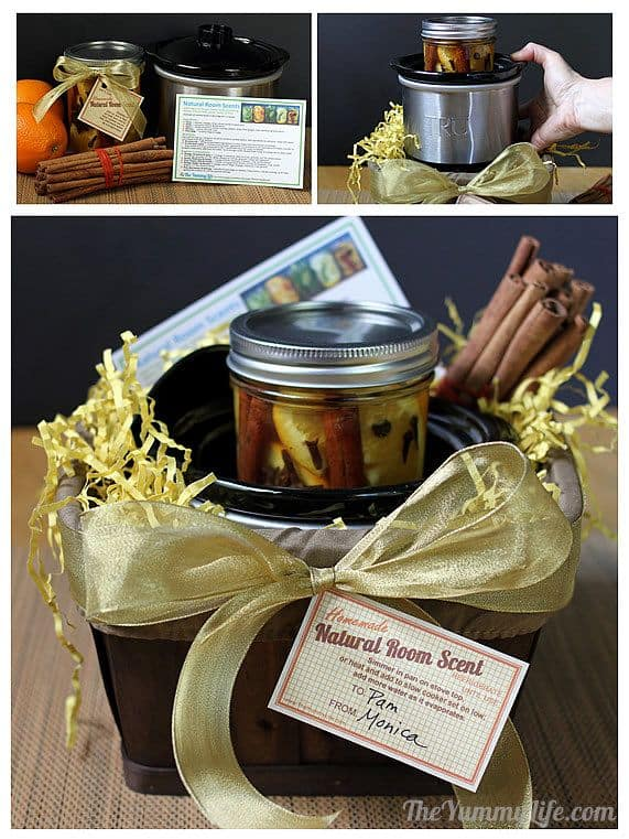 beautiful DIY gifts, scented gift jars