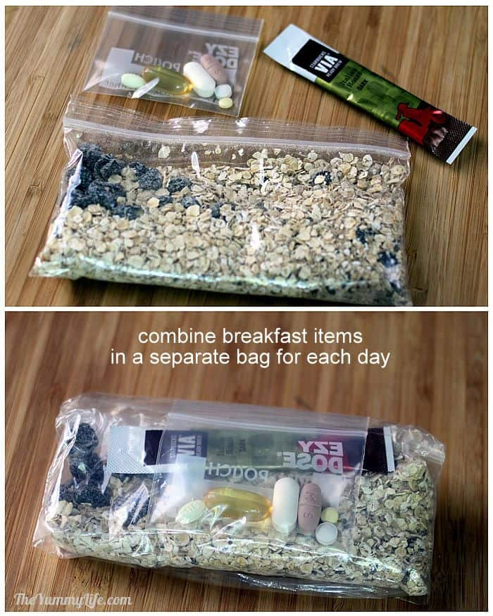 Breakfast bags for backpacking