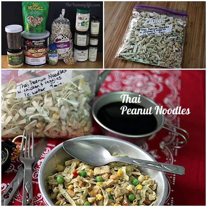 Instant Meals-On-The-Go | Thai Peanut Noodles. Just add boiling water! from TheYummyLife.com