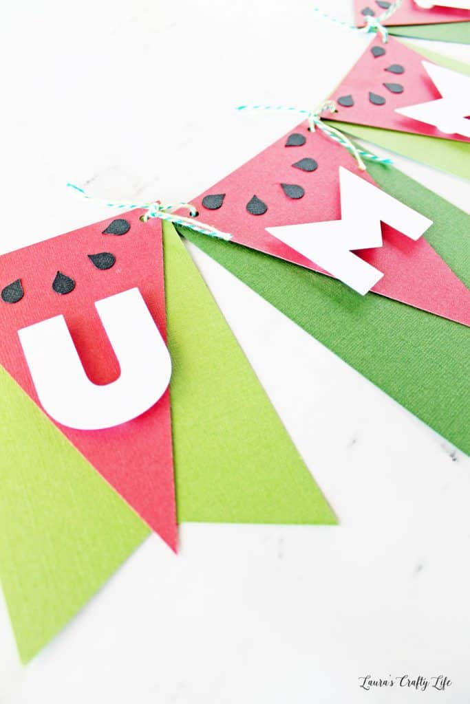 Cardstock Watermelon Summer Banner
