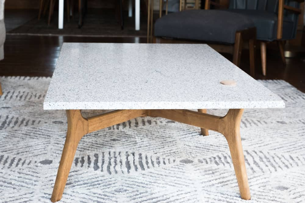 DIY Stone Top Coffee Table | AnInspiring