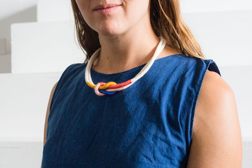 [2020] DIY Colorful Rope Necklace