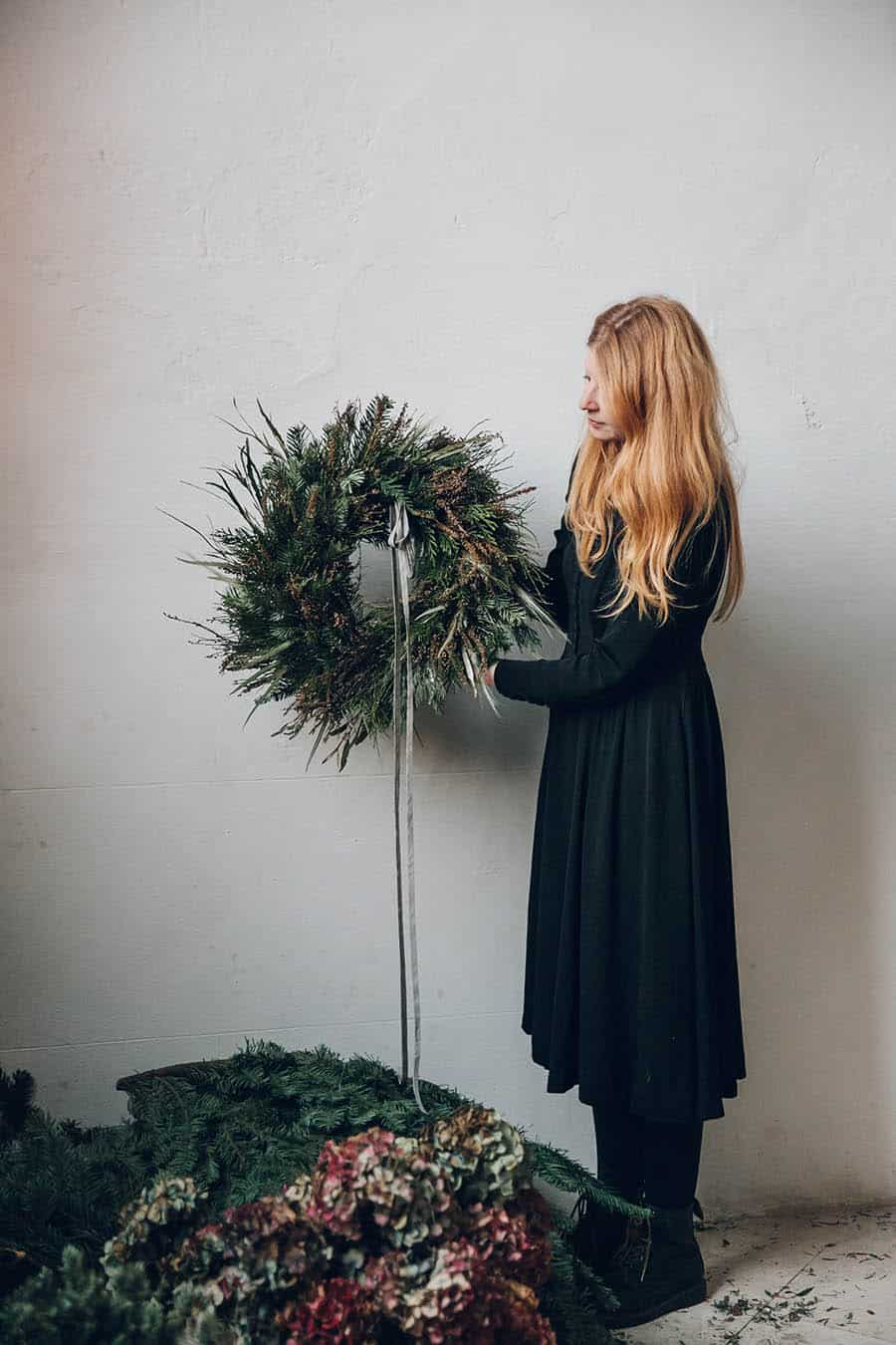 [2020 Christmas]How To Make A Natural Wreath Step By Step At Home From Scratch?