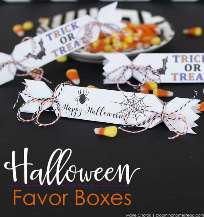 [2020] Printable Halloween Favor Boxes