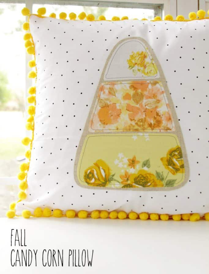 [2020] DIY Halloween Candy Corn Pillow