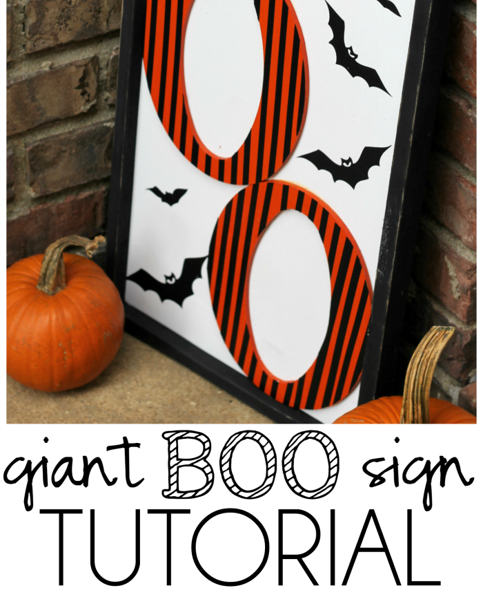 [2020] Giant Boo Halloween Sign Tutorial