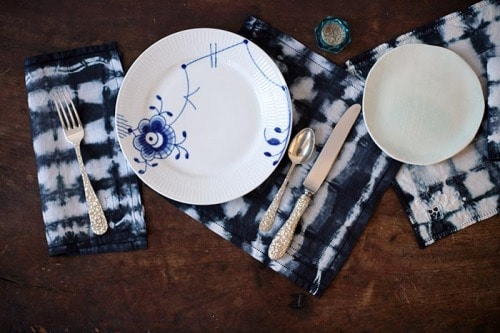 Shibori Napkins Table Setting 05