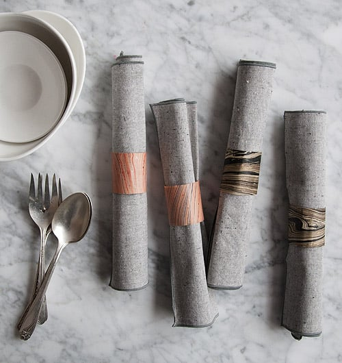 2020 DIY Project: Marbled Paper Napkin Rings
