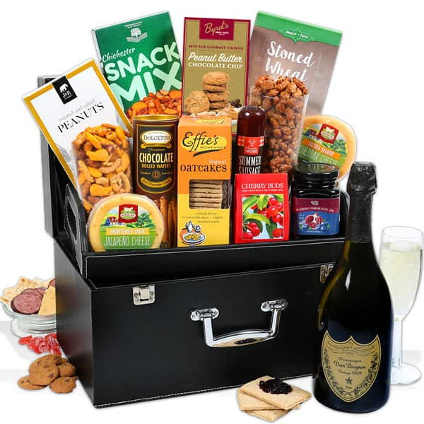 Best Christmas Gift Baskets 2019: Dom Perignon Champagne & Snack 2020