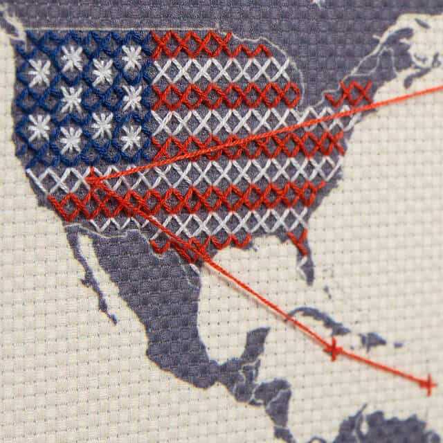 Easy DIY Gifts 2019: Cross Stitch Map Wall Art Gift 2020
