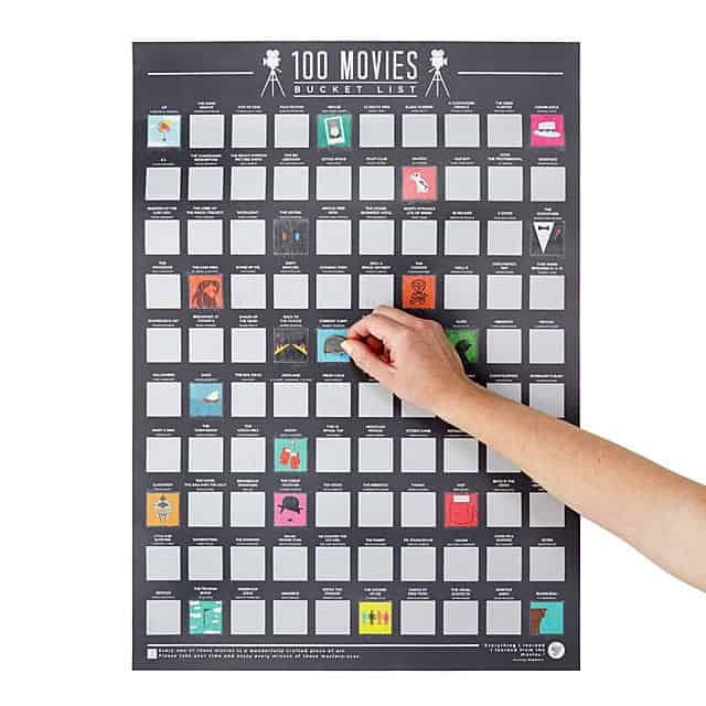 Best Hanukkah Gifts 2019: Scratch Off Movie Poster 2020