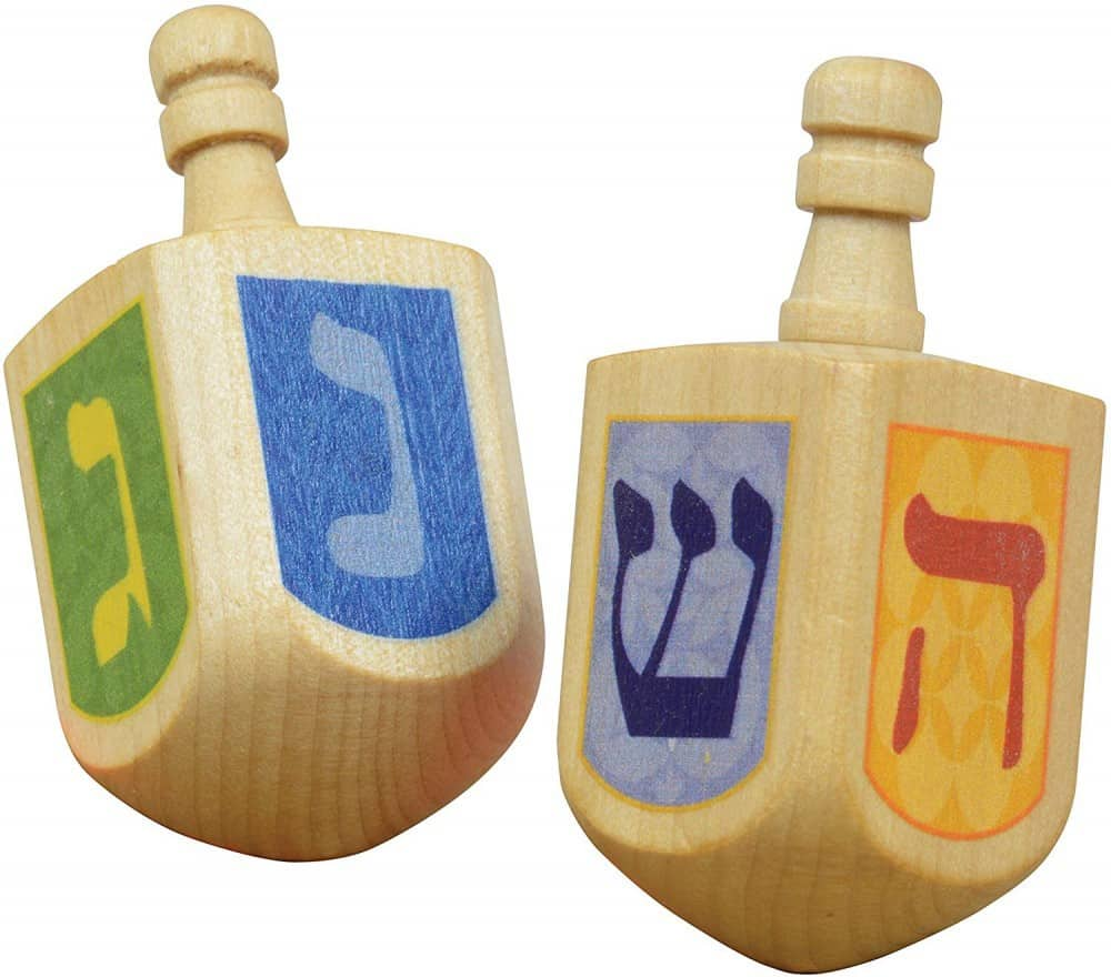 Best Hanukkah Gifts 2019: Wooden Dreidels 2020