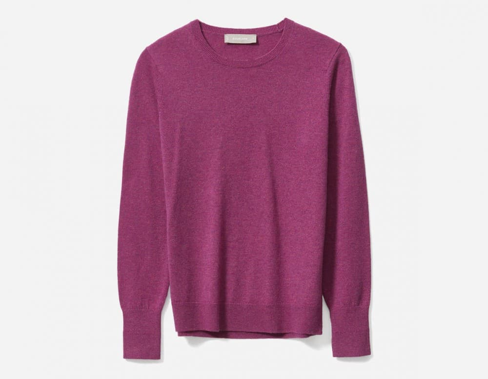 Best Gifts For Sisters 2019: Everlane Cashmere Sweater in Magneta 2020