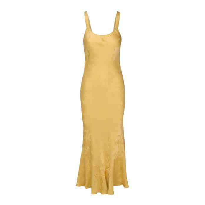 The Allegra Dress in Yellow Dragon