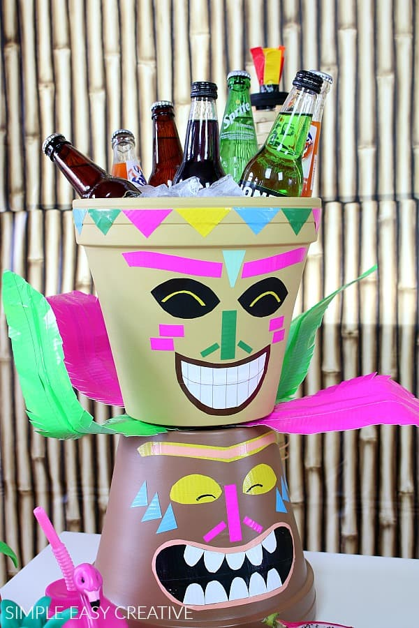 How to make Tiki Heads for Hawaiian Luau Party