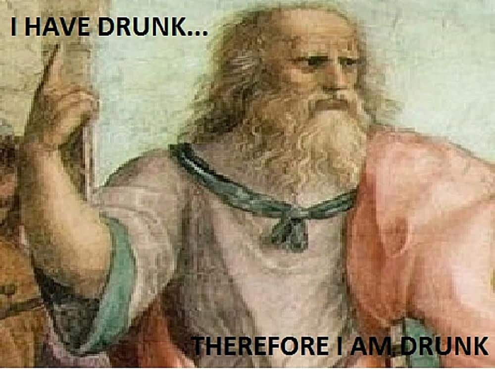 New Year's Eve Drunks, the philosopher