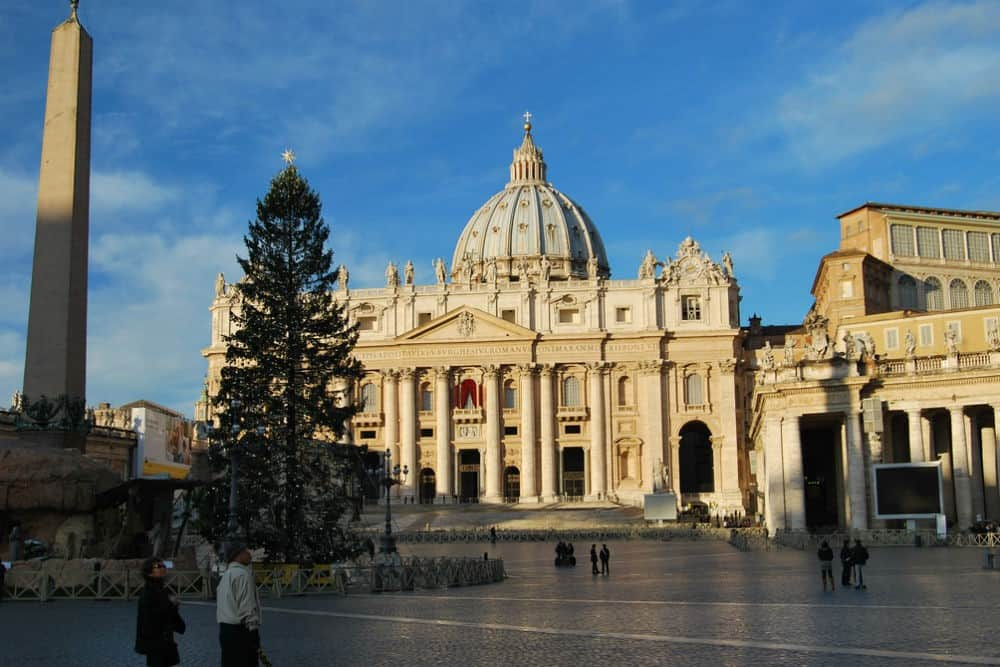 The Vatican and St. Peter's Square at Christmas, Rome, Italy