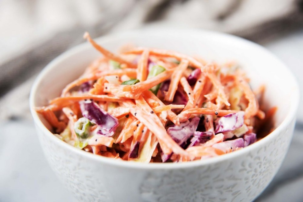 tasty healthy snacks | coleslaw