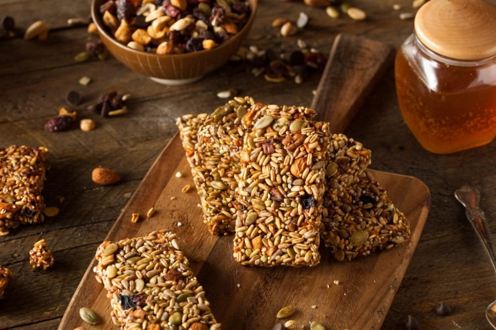 Raw Organic Granola Bars with Seeds and Nuts